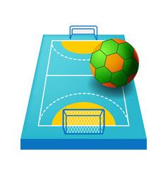 Indoor field for handball isolated icon vector