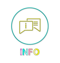 info in linear outline style vector image