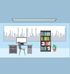 Interiores workspace coffee shop vector