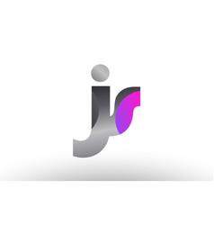 Js j s silver grey metal metallic gradient vector