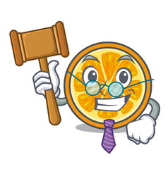 judge orange mascot cartoon style vector image