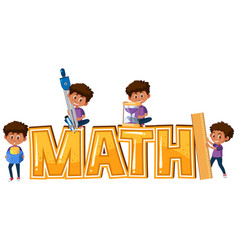 kid and math icon vector image