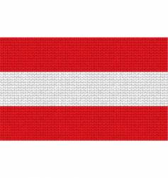 knitted Austria flag vector image