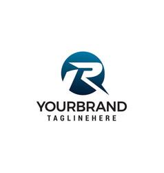 letter r circle logo design concept template vector image