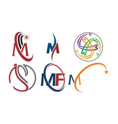 Logotype modern template set vector