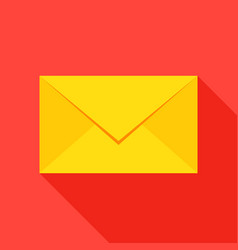 mail envelope flat icon vector image