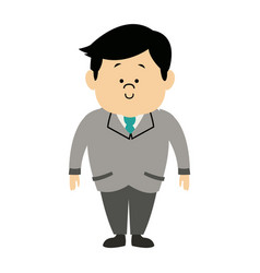 Man male cartoon standing senior person character vector