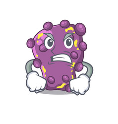 mascot design concept shigella with angry face vector image