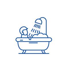 Mens bathroom line icon concept mens bathroom vector