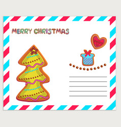Merry christmas greeting card template vector