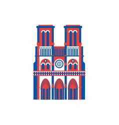 notre dame de paris icon historic building vector image