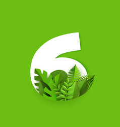 number six with fresh vector image
