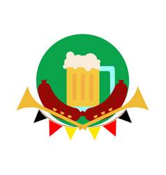 oktoberfest common glass of beer vector image