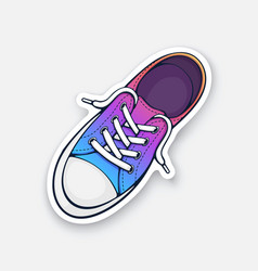one rainbow textile sneaker with rubber toe vector image