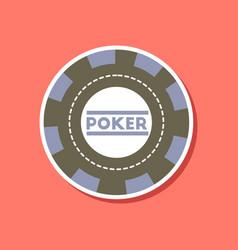 Paper sticker on stylish background single poker vector