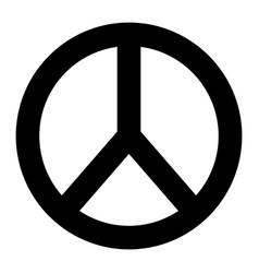 Peace and love round symbol design vector