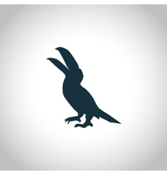 Pelican simple icon vector