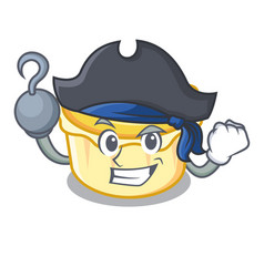 Pirate egg tart character cartoon vector