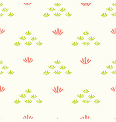 pretty stylized flower grass pattern seamless vector image
