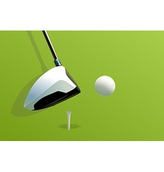 Putting golf vector