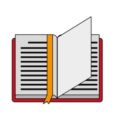 reading book separator vector image