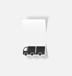 Realistic design element truck vector
