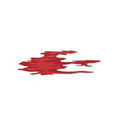 red brush stroke blood trail vector image