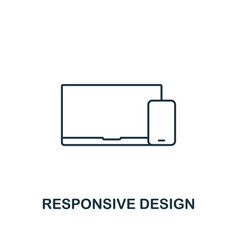 responsive design icon thin outline style from vector image
