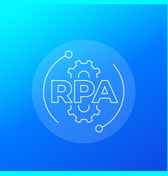 rpa enterprise resource planning icon linear vector image