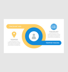 set orange and blue elements for infographic vector image
