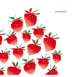 strawberry design element vector image
