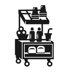 Street food kiosk icon simple style vector