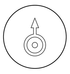 symbol uranus icon black color simple image vector image