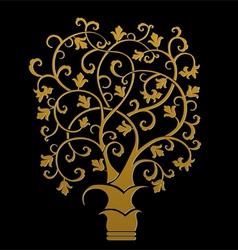The golden tree symbol vector
