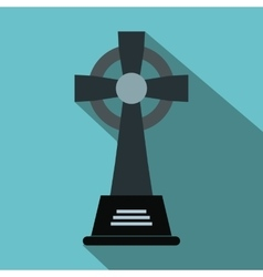 Tombstone flat icon vector