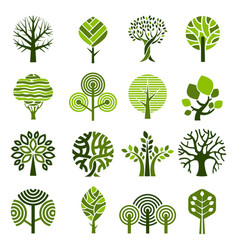 tree badges abstract graphic nature eco pictures vector image