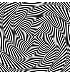 Uncolored grayscale radiating shape with spirally vector