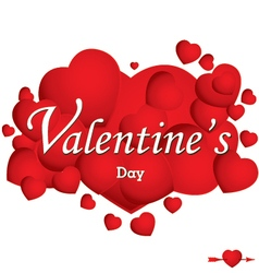 Valentines Day and Red heart isolated on white vector