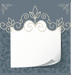 Vintage background frame for text vector image