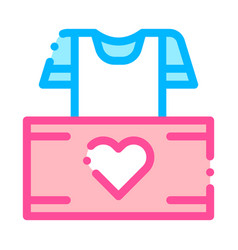 Volunteers support thing box thin line icon vector