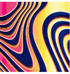 abstract colorful distorted mesh vector image vector image