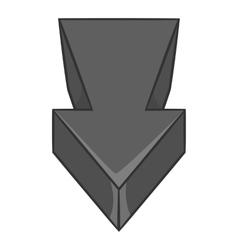 Big arrow icon black monochrome style vector