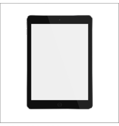 Black realistic smart tablet with blank white vector image vector image