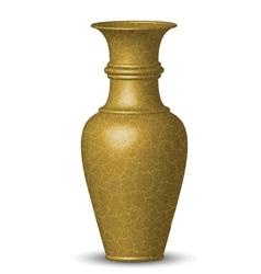 golden vase vector image vector image