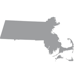 map of the US state of Massachusetts vector image vector image