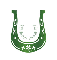 patrick day horseshoe vector image