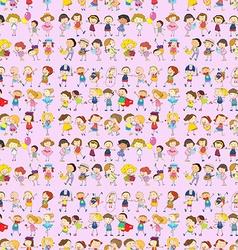 Seamless children movements vector image
