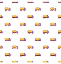 Truck carries petrol pattern cartoon style vector