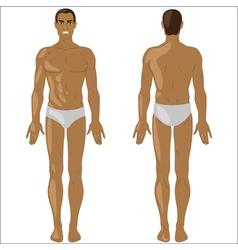 African American man in swimwear vector image vector image