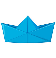 blue paper folded in hat shape vector image